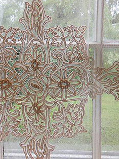 vintage lace curtains