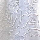 All Linen Tablecloth with extensive whitework